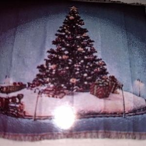 Christmas Tree Train Throw 50 X 60 Woven Tapestry